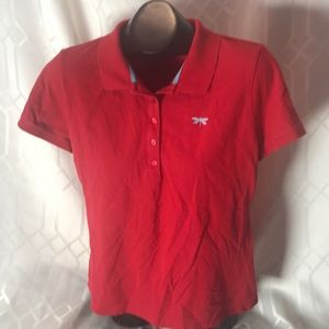 Talbots red and white set of 2 polo shirts XLP